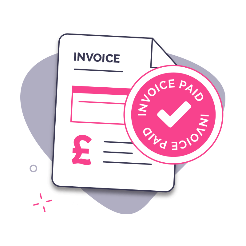 Invoice Finance Step 4 - Customer pays the invoice